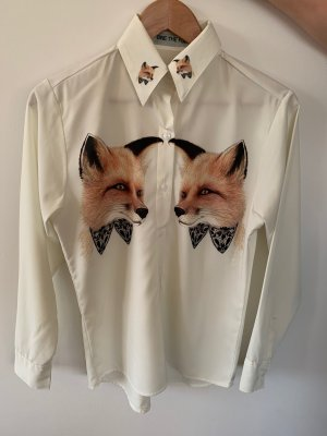 Hemdbluse mit Fuchsaufdruck