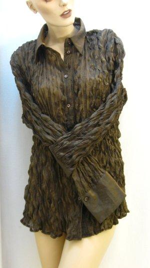 Hemdbluse, mit Metallic-Glanz (kupfer/gold)