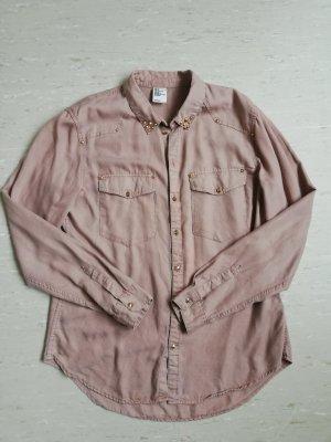 H&M Blusa-camisa color rosa dorado