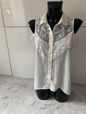 H&M Lace Blouse white-natural white