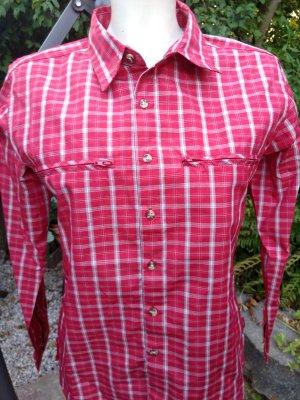 Tchibo / TCM Blusa-camisa rojo ladrillo-blanco