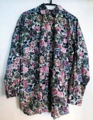 Hemdbluse Oversize Pastellblass H&M 34 / xs Flowers