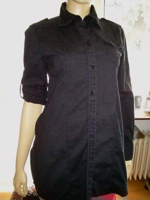 Hemdbluse von Disigners - Gr. 40 schwarz-Longbluse