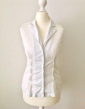 Hallhuber Donna Chemise à manches courtes blanc