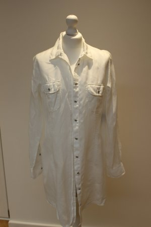 Marc O'Polo Long Blouse white linen