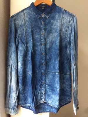 Hemdbluse von Mavi in Acid-Wash-Look