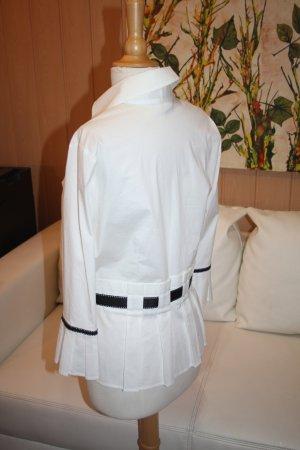 Next Cuello de blusa blanco-negro Algodón