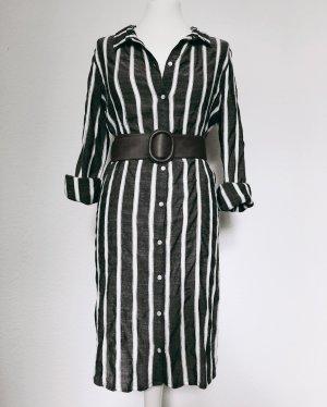 Second Female Abito blusa camicia bianco-grigio scuro Rayon
