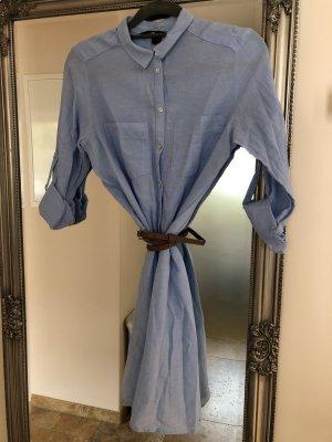H&M Robe chemise bleu azur