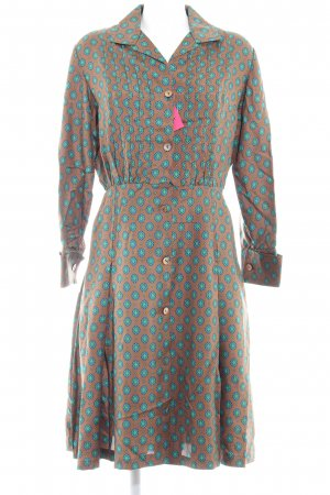Hemdblusenkleid abstraktes Muster Casual-Look