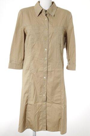 Shirtwaist dress beige casual look