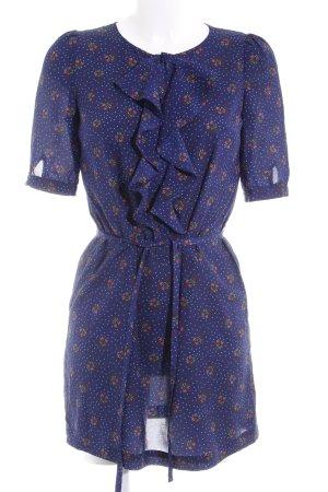 Hemdblusenkleid dunkelblau Inside-Out-Druck Elegant