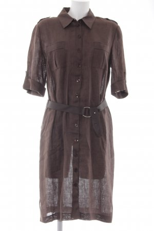 Shirtwaist dress dark brown casual look