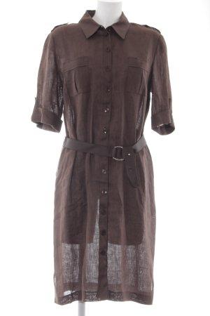Shirtwaist dress dark brown casual look