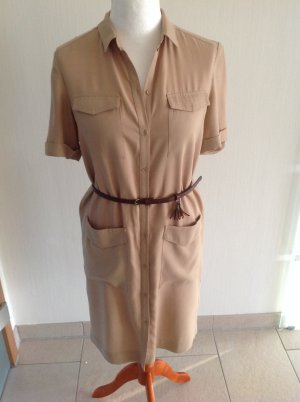 Esprit Shirtwaist dress beige lyocell
