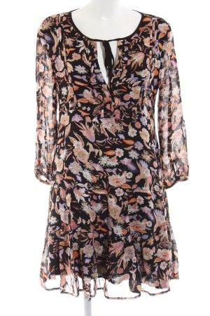 Vestido tipo blusón estampado floral look Boho