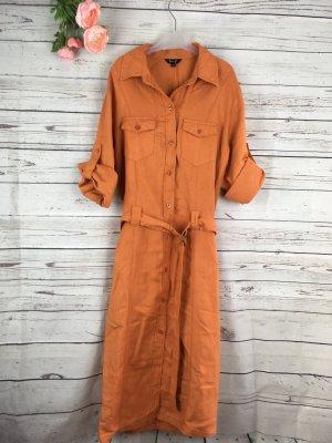 Hemdblusenkleid Gr. 42 Miss H Terracotta Orange Rost