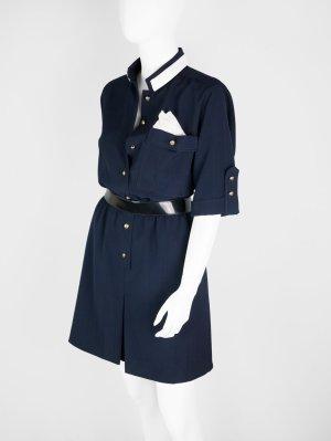 Hemdblusenkleid im Marine-Look