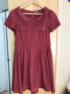 2Two Abito blusa camicia bordeaux