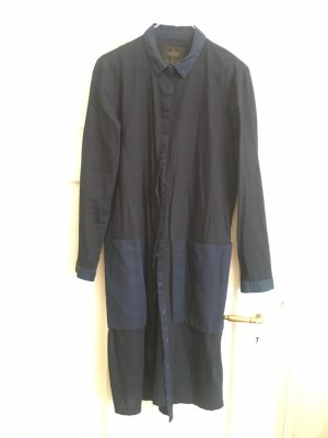 Zara Trafaluc Abito blusa camicia blu scuro-blu acciaio