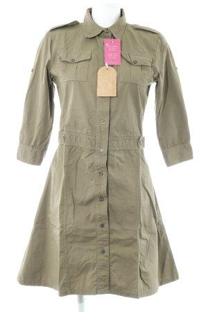 Shirtwaist dress khaki casual look