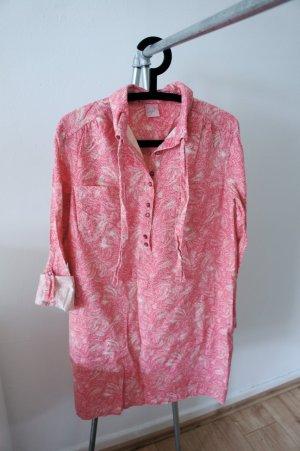 Hemdblusenkleid mit Palmenmuster von Coje