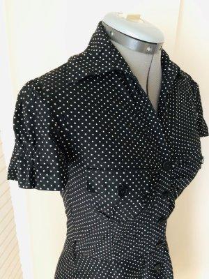 Orsay Shirtwaist dress black-white cotton
