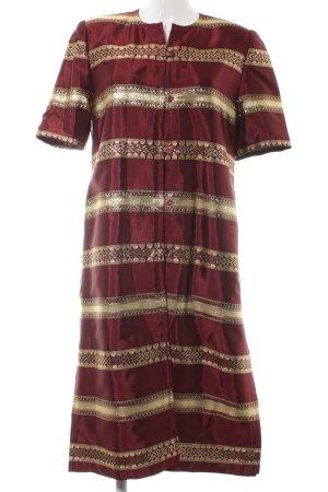 Robe chemise Mélange de motifs élégant