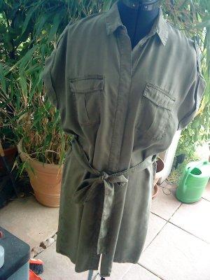 Hemdblusenkleid oliv 38