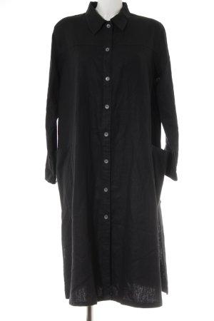 Robe chemise noir style athlétique