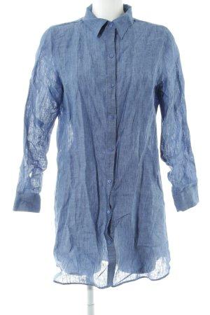 Hemdblusenkleid stahlblau schlichter Stil