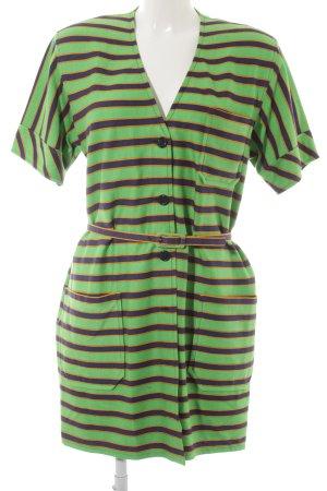 Robe chemise motif rayé style extravagant