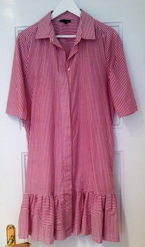 Hemdblusenkleid Toupy (rot-weiß gestreift mit Volants)