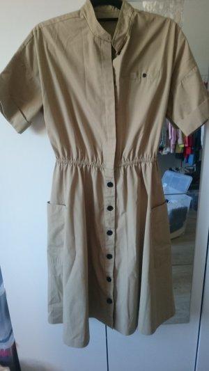 Shirtwaist dress sand brown