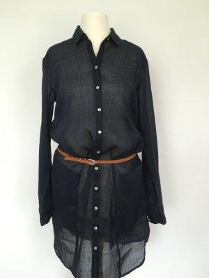 Hemdblusenkleid - Tunika mit Gürtel - Strandkleid