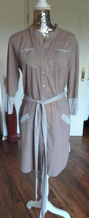 Reken Maar Shirtwaist dress grey brown