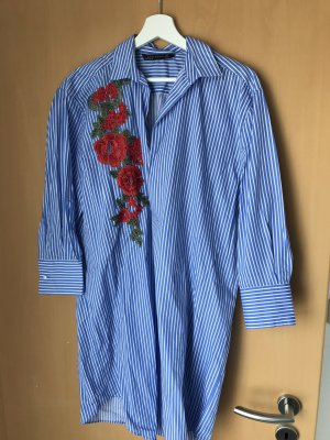Zara Vestido tipo blusón multicolor