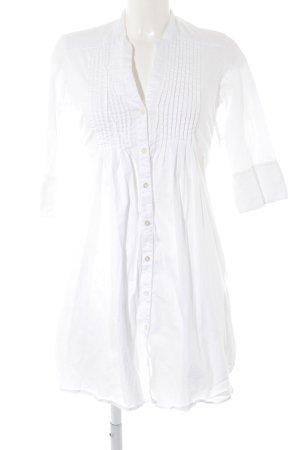 Hemdblusenkleid weiß schlichter Stil