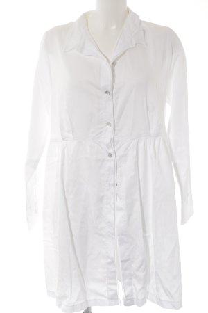 Hemdblusenkleid weiß-silberfarben Casual-Look