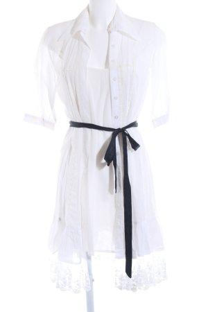 Shirtwaist dress natural white hippie style