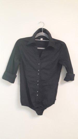 Shirt met lange mouwen zwart Katoen