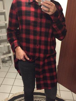 H&M Robe chemise noir-rouge