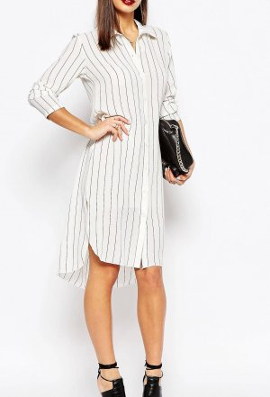 Boohoo Shirtwaist dress white-black