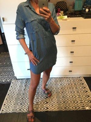 Hemdkleid Blusenkleid Tunika Kleid Jeans Mango Jeanskleid Taschen
