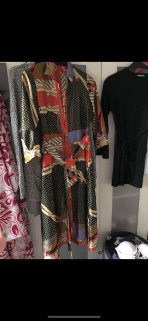 Hemdkleid Blusenkleid Zara Hermes Versace Seide