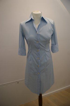 Shirtwaist dress baby blue cotton