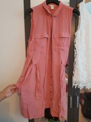 H&M Abito blusa camicia bianco-color oro rosa