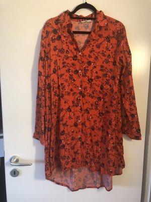 LTB Shirtwaist dress dark orange-red