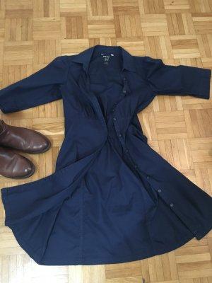 Mango Basics Abito blusa camicia blu scuro
