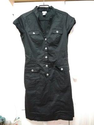Hemdkleid schwarz mit Silber